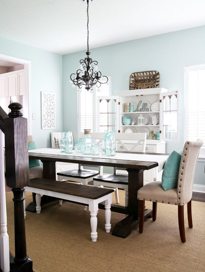 top 10 aqua paint colors for your home green dining room on 10 most popular paint colors id=33572