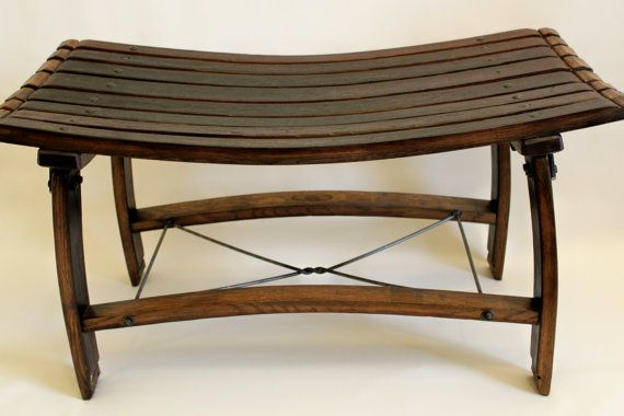 Wine Barrel Furniture · Wine Stave Bench By RockCreekFurnitureCo On Etsy,  $325.00