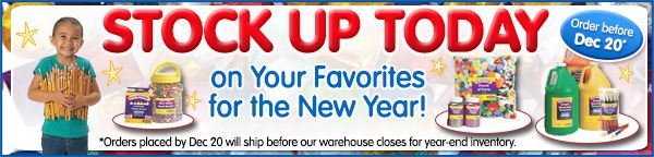 Stock up on your favorite arts and crafts supplies for the new year!