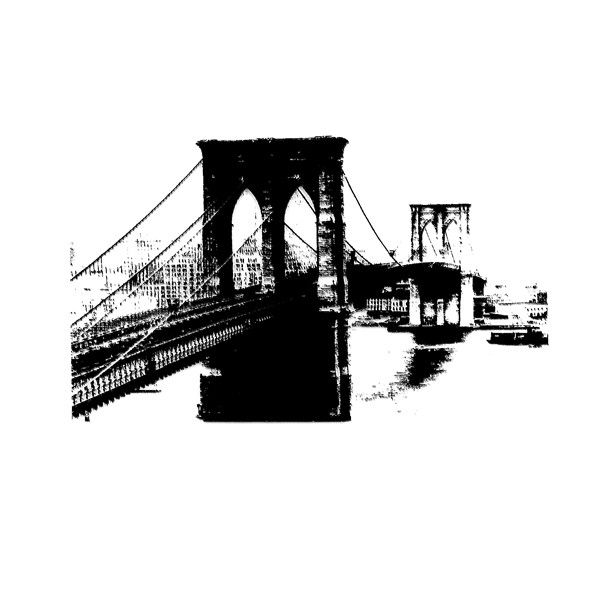 Tampon clear new york pont de brooklyn tampons pinterest pont de brooklyn brooklyn et a - Image new york a imprimer ...