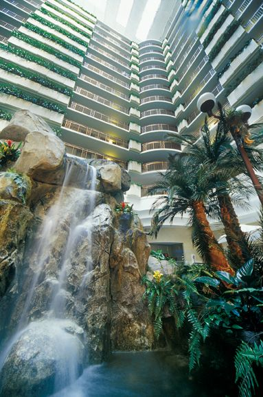 Cascading Waterfalls Inside Our Property Hilton Miami Vacation Places Miami International Airport