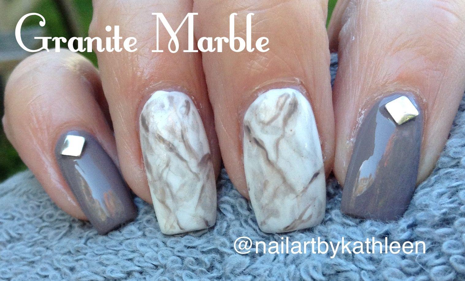 Granite Marble Nails #nails #nailart #naildesign #granite #marble ...