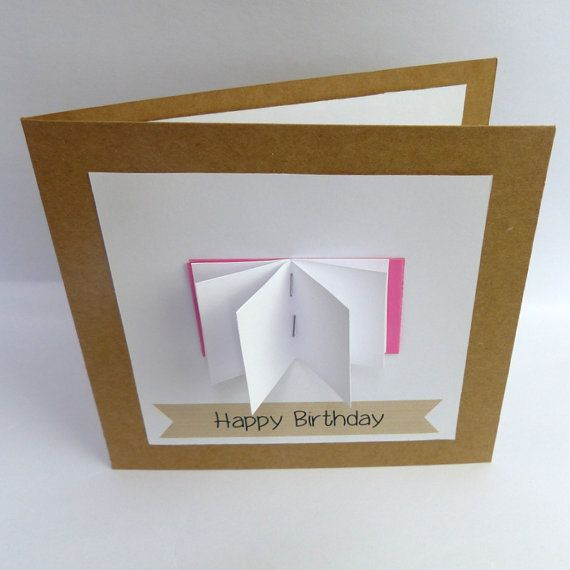 A cute birthday card to give to a book lover open book A – Birthday Card Book