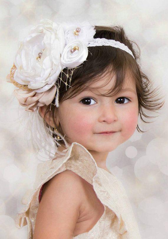 Daisy headband-Floral headband Baby Girl headband-Girls headband-newborn headband-floral crown-flower Girl-Hair accessories-Christening bow