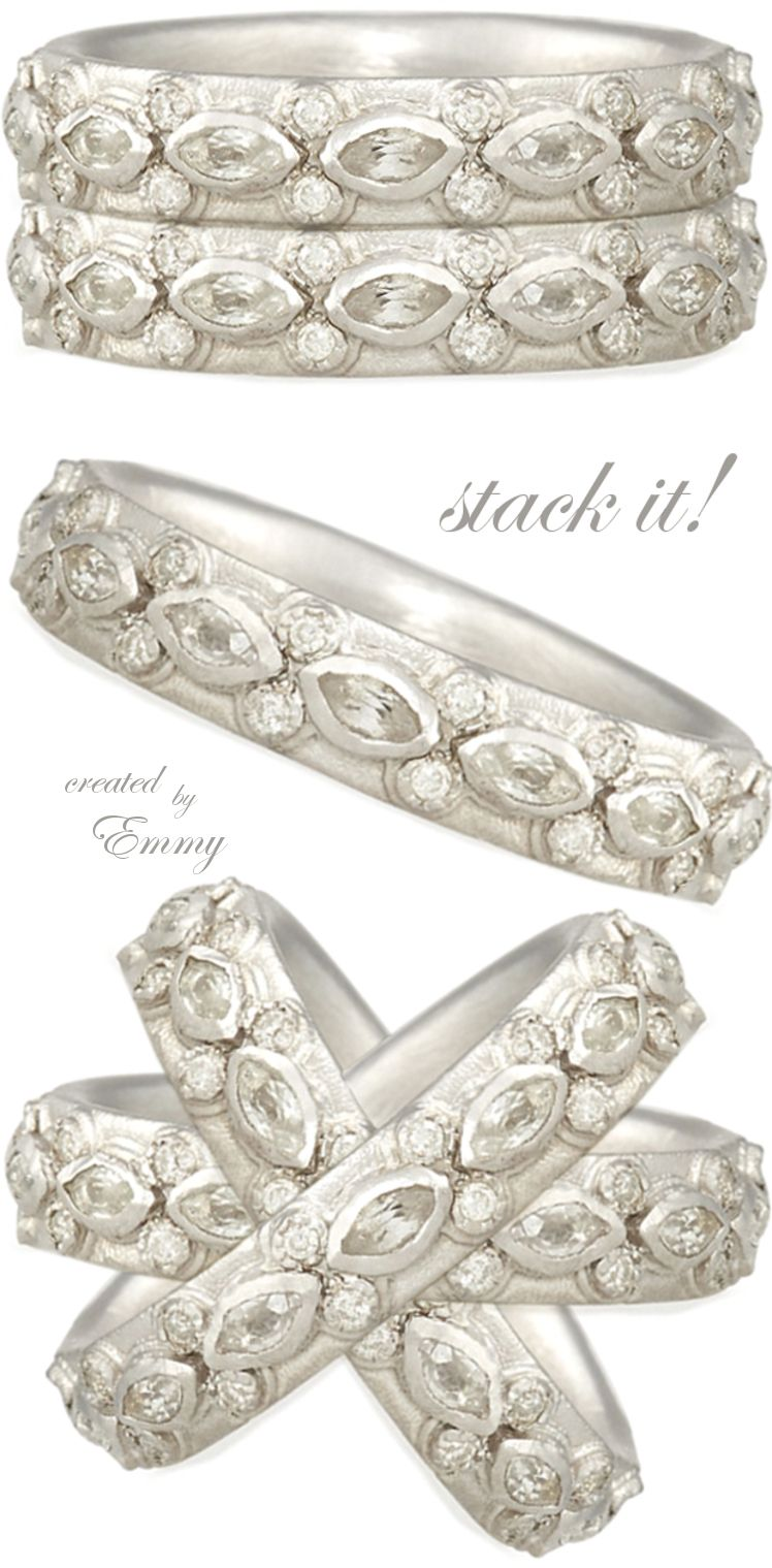 Brilliant Luxury ♦ Armenta New World Lacy Eternity Stacking Ring