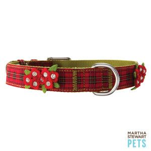 Martha Stewart Pets Holiday Plaid Collar Petsmart Holiday Plaid Pet Accessories Petsmart