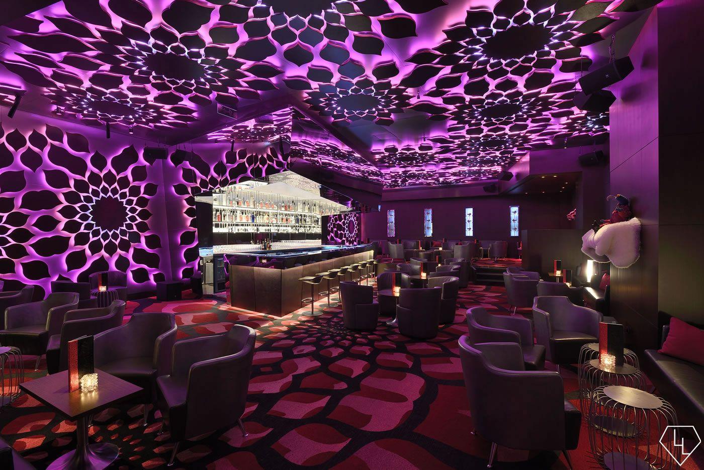 Design Notes A Look Inside The Trippy Razzmatazz Bar At The Jw Marriott Absheron Baku Azerbaijan Hookah Lounge Decor Bar Interior Design Nightclub Design