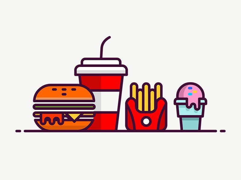 Fast Food Icon Food Icons Sign Board Design Icon Design