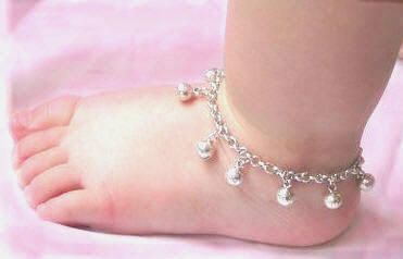 Jingle Baby Anklets Silver Ankle Bracelet Bells Sterling Asian Cambodian Gift Jewelry