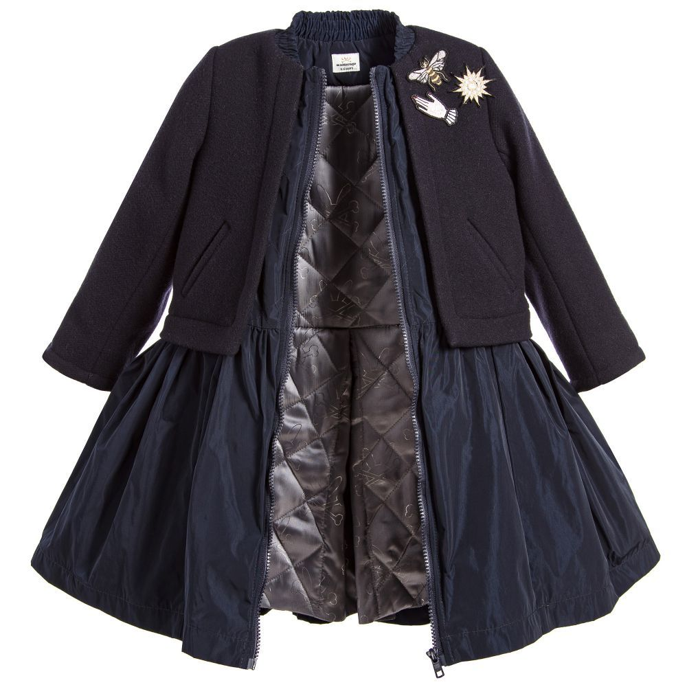 772b7b997 A girls  overcoat with a modern twist is this hybrid design from No ...