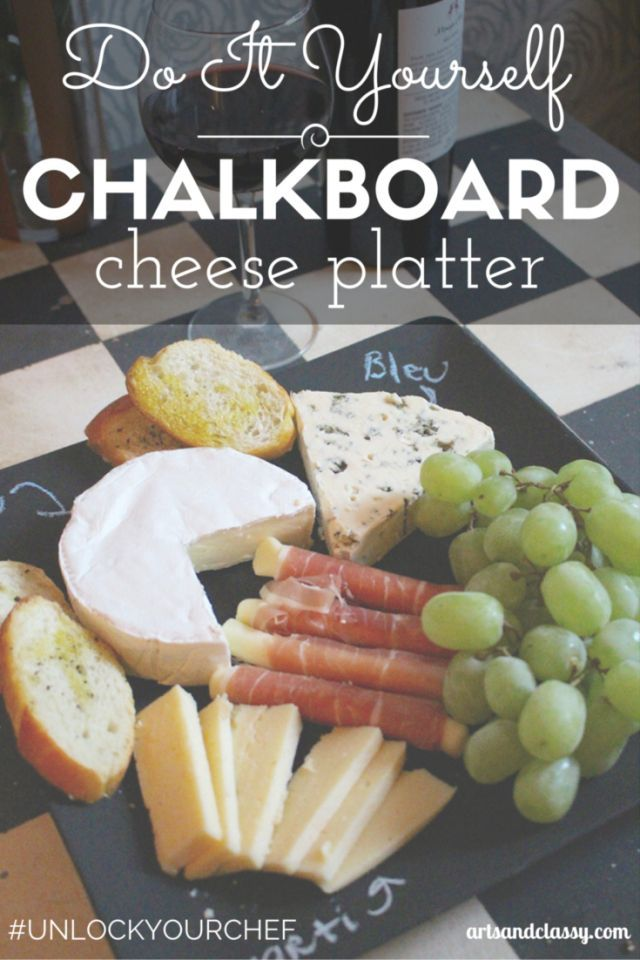 Do It Yourself  Chalkboard Cheese Plate For a Movie Night In! Inspired by the & Do It Yourself Chalkboard Cheese Plate For a Movie Night In ...