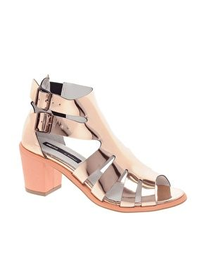 25fdf09ad038 Image 1 of Miista Shona Gold Heeled Gladiators Sandals