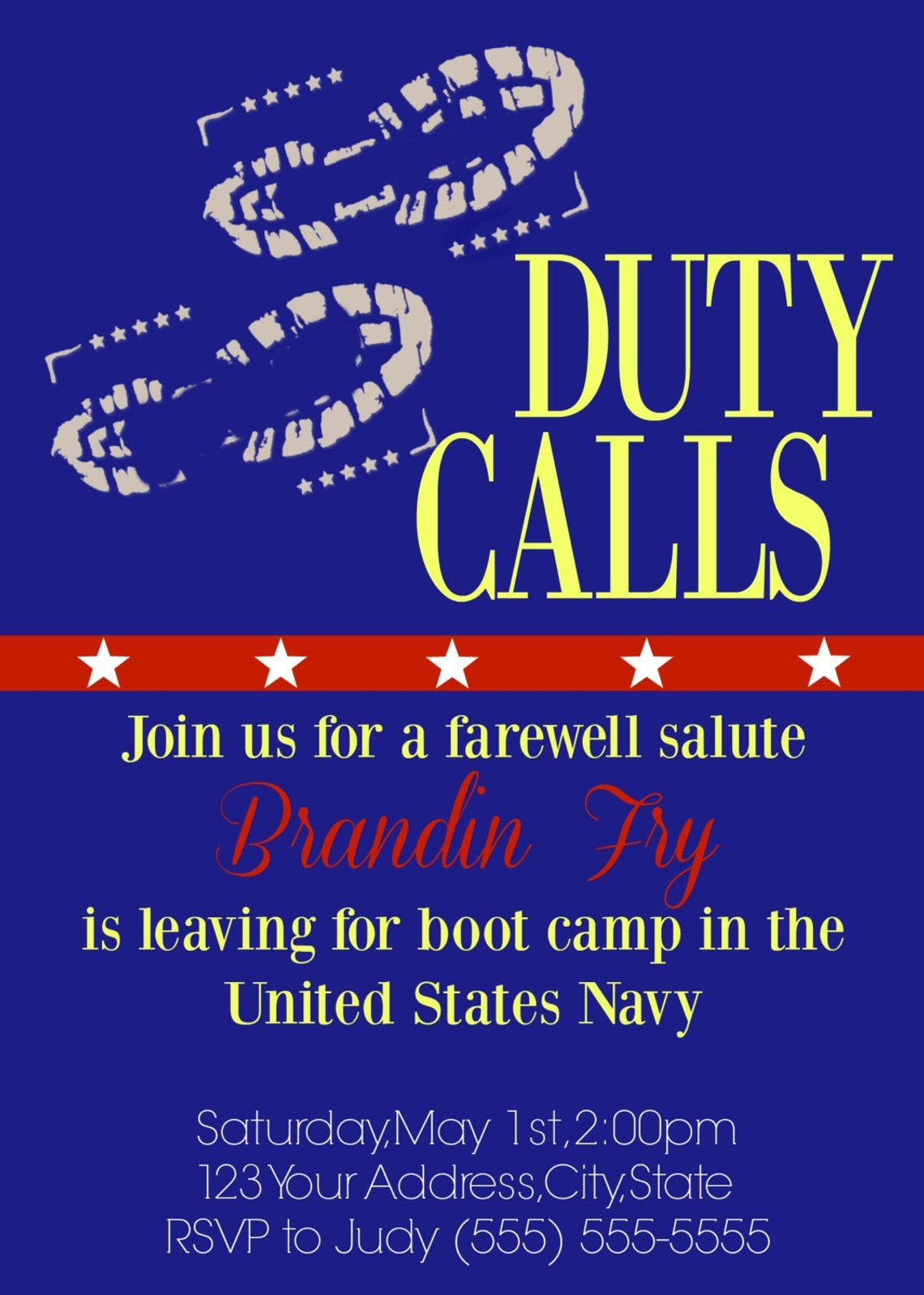 Military Farewell Going Away Party // Boot Camp or