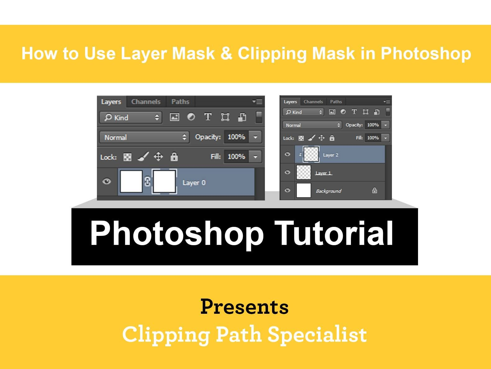 How to Use layer mask & Clipping Mask in Full