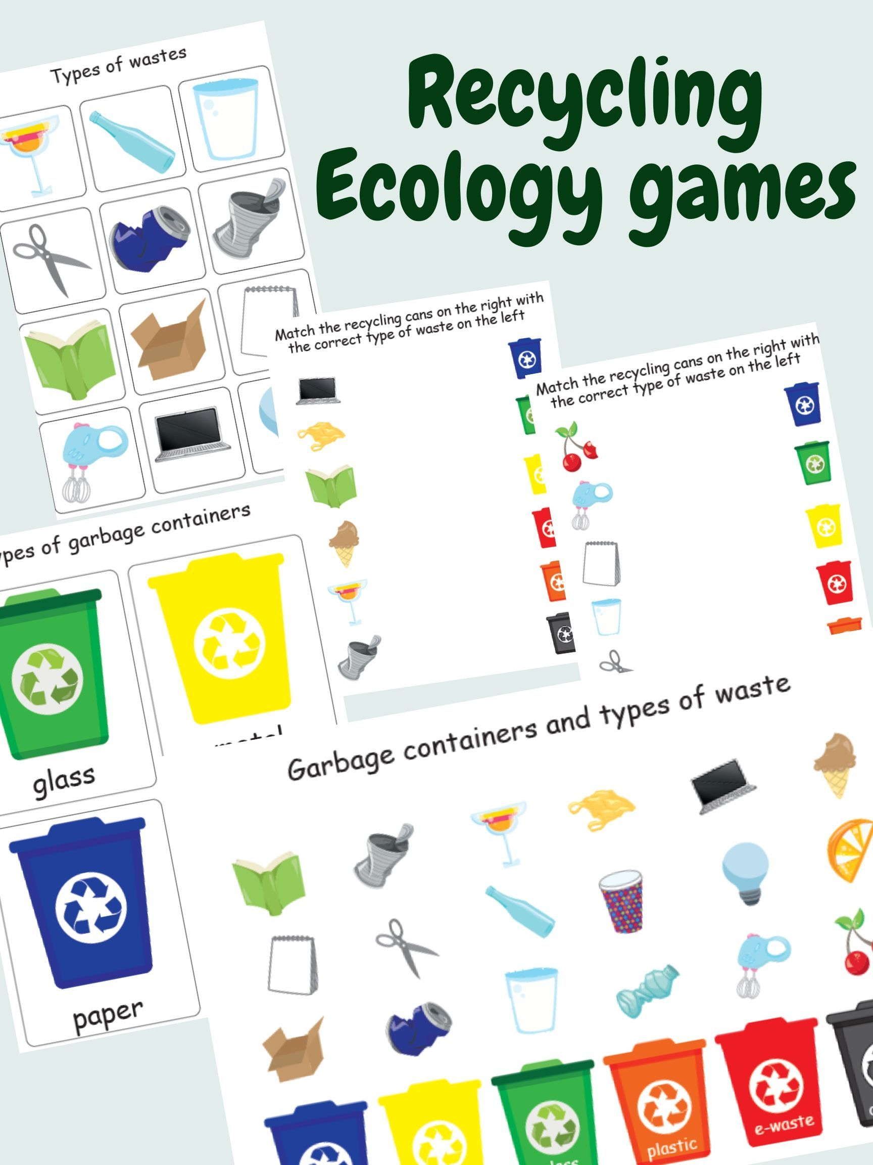 Waste Sorting Game Recycling Garbage Ecology Games