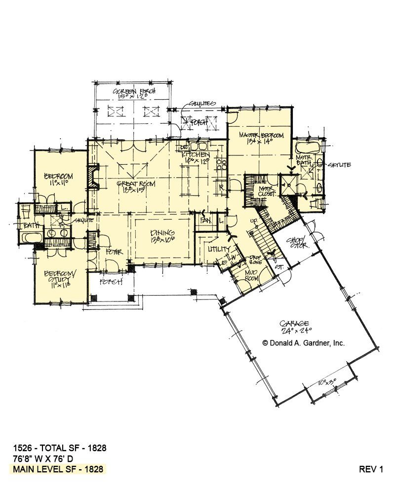 Open Ranch Plan With Angled Garage Donald Gardner New House Plans Dream House Plans Garage House Plans