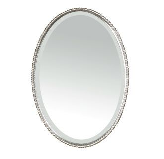 View the Uttermost 01102 B Sherise Oval Beveled Mirror With Beaded Frame at Build.com.