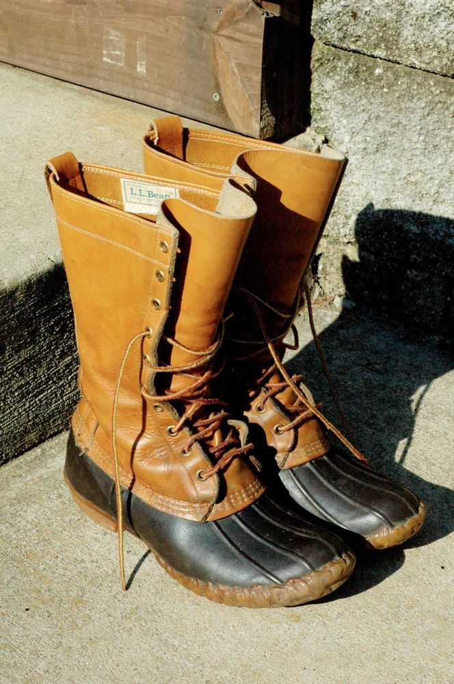 f30c22a8c2f8 SOLD - Vintage LL Bean Maine Hunting Shoe Duck Rubber Leather Boots! Mens  size 8  LLBEAN  Boots