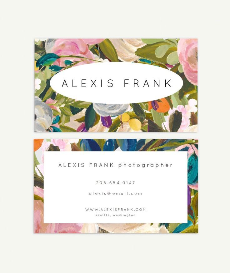 Floral Business Card Design - Available on Etsy by Jamie Grant ...