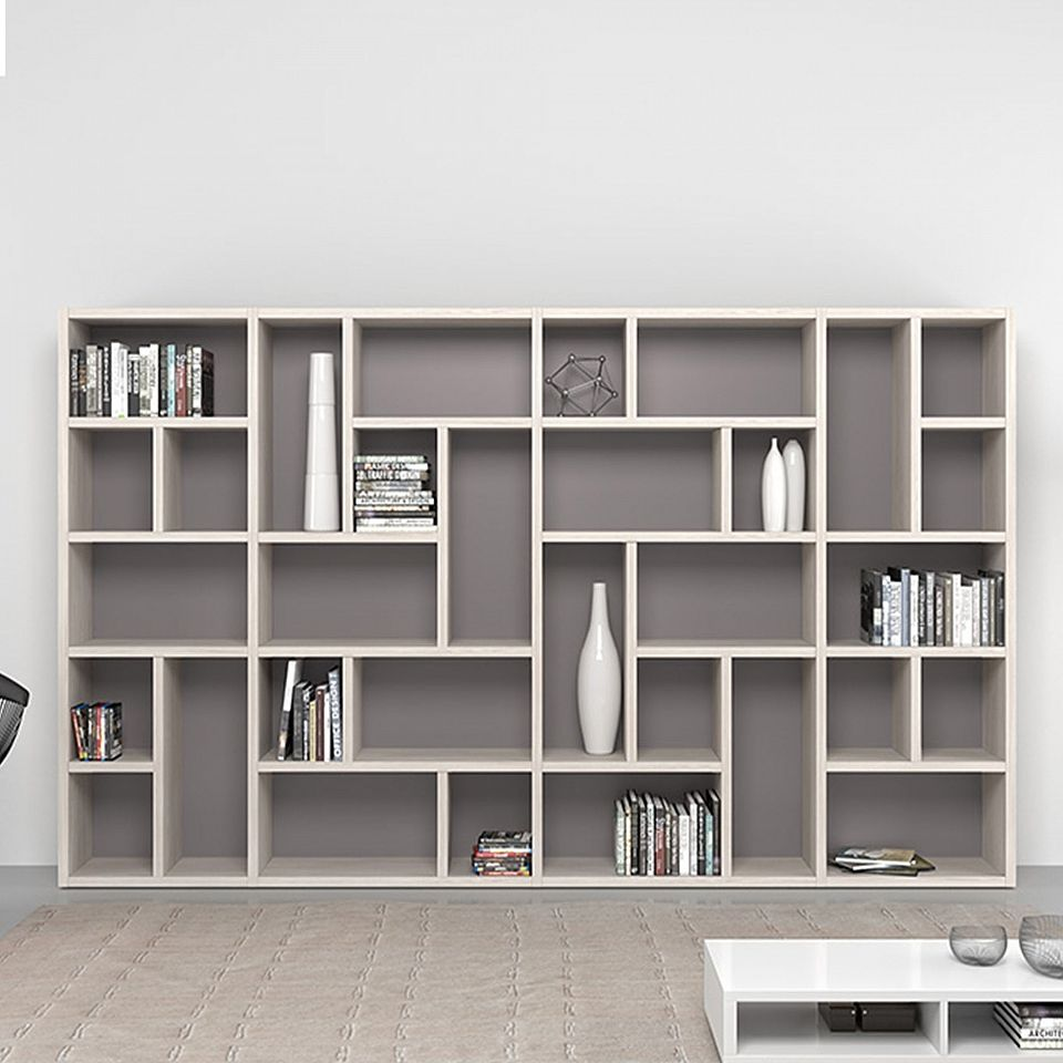 Modern Tall Large Bo Bookcase Wall Unit