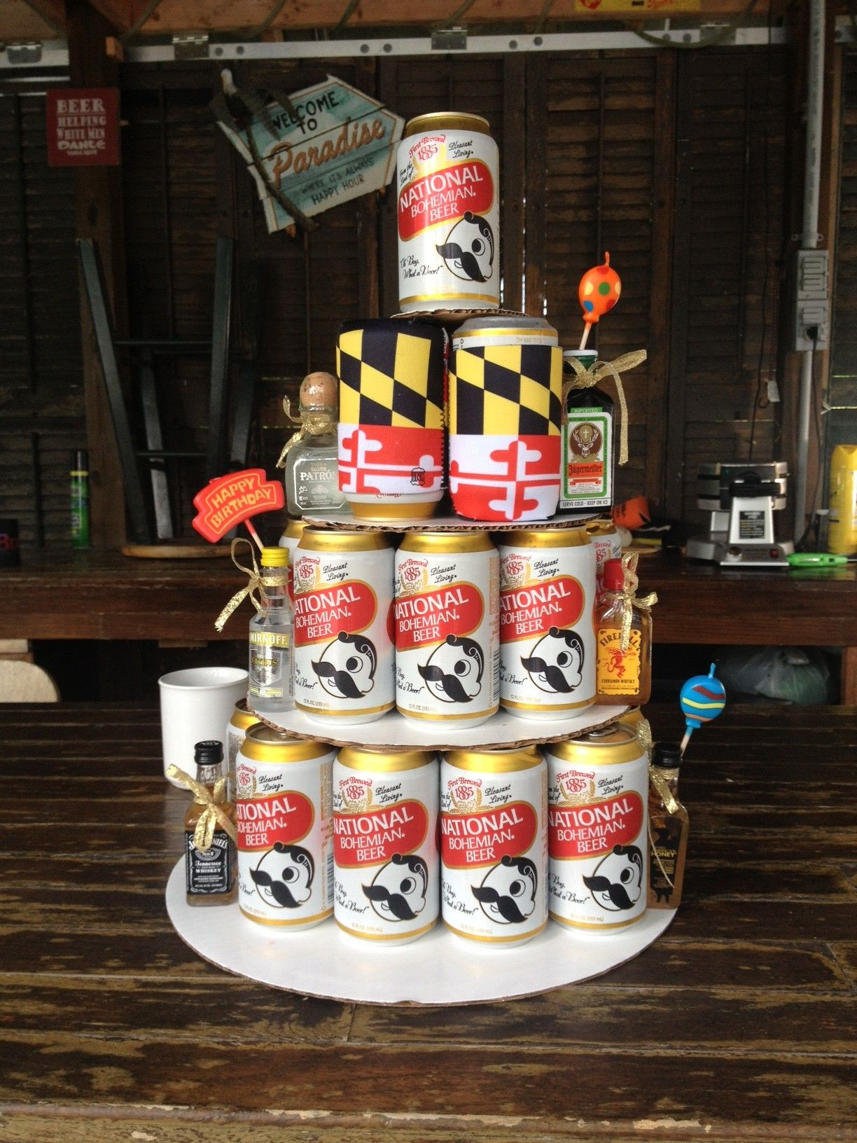 Maryland Themed Birthday Beer Cake Decorating Birthday