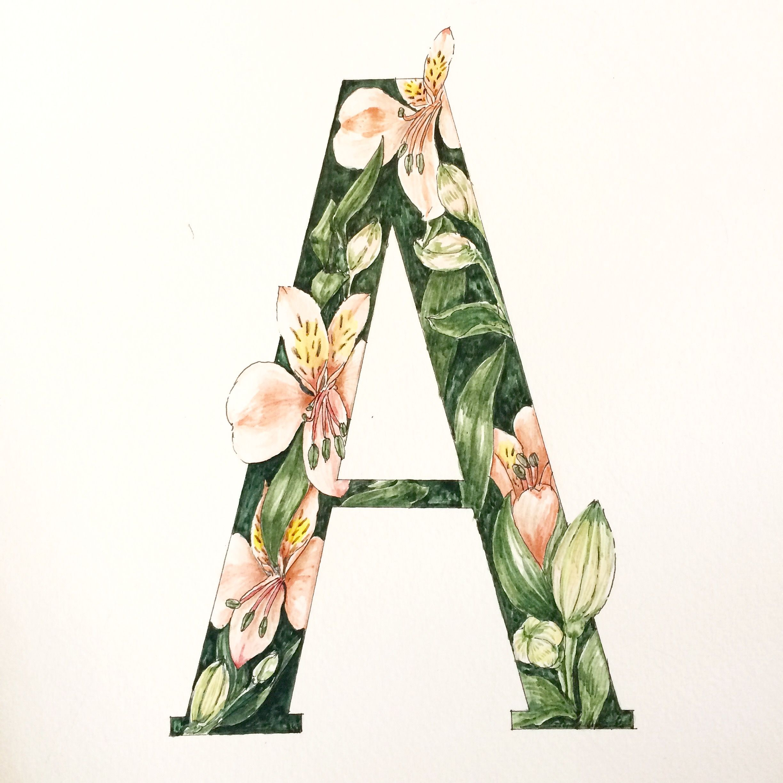 A , Alstromeria flowers by Jobs Craft Art Studio line