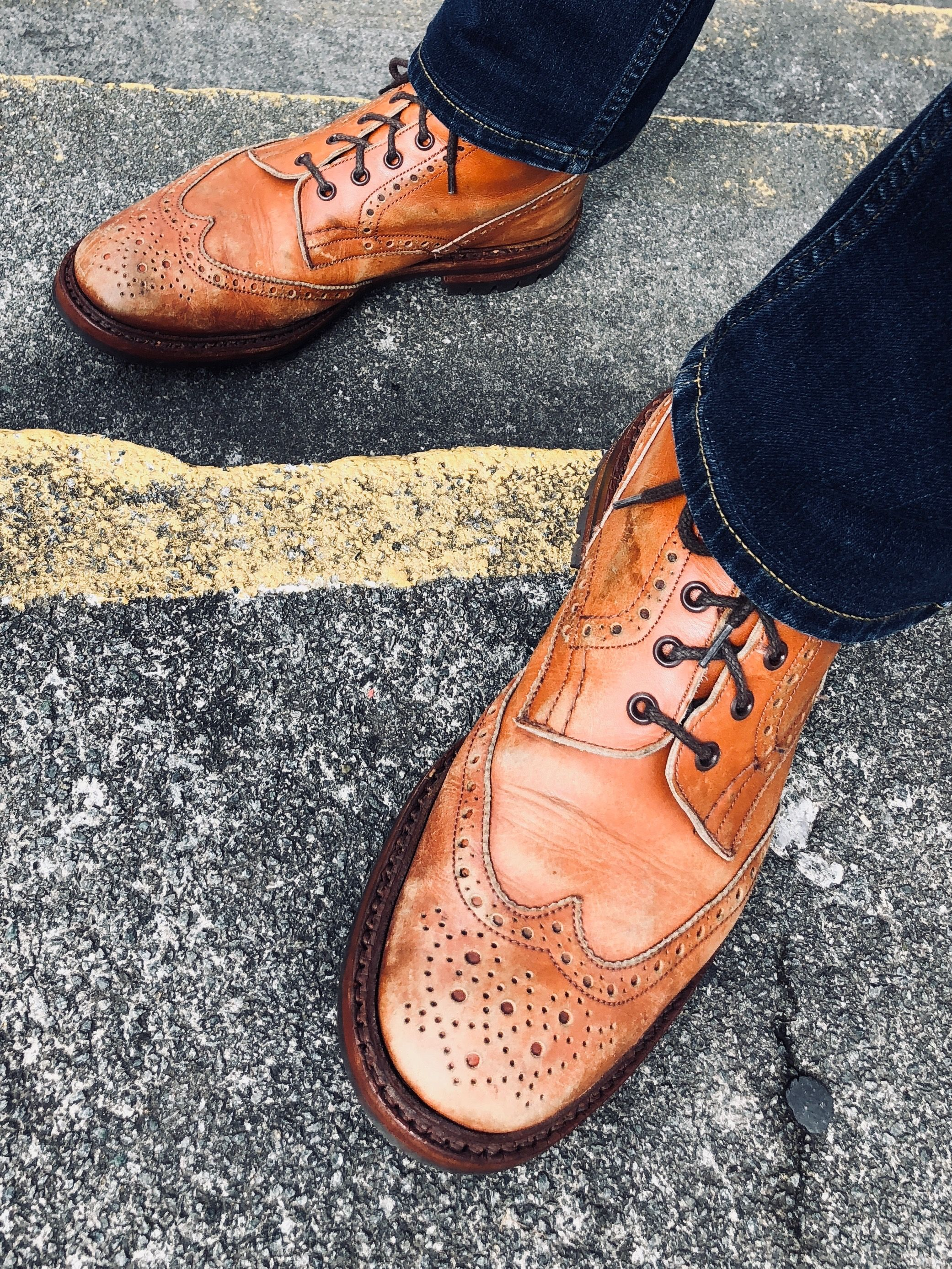 8f9eaa35685 My Vintage Trickers Stow Brogue Boots, I Don't Polish These ...