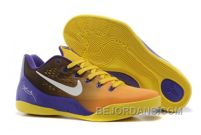 Free Shipping 6070 OFF Nike Kobe 9 Low EM White Black Yellow For Sale