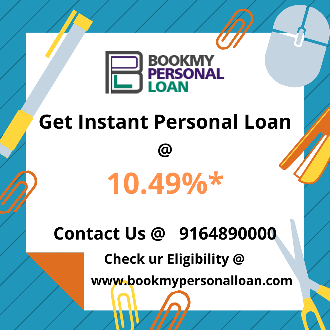 Are You Looking for Personal Loan ?  Don't know how to reach out ? Where to Reach Out ?  Here is the solution !  Unsecured Personal Loans @10.49%* only  📲 Apply online now @ www.bookmypersonalloan.com  Get Instant personal loan at low interest rates in bangalore  Hurry up!  💰 Get cash disbursement with in 42 hours*  💯% Hassle free loan  => 0% Processing fees => 0% Pre-closure charges => Lowest Emi's  Call us ☎️ @ 9164890000 for more details  Note: