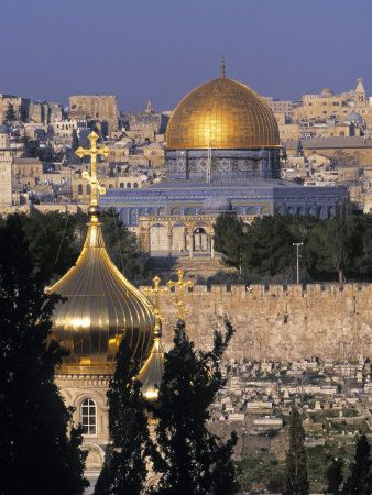Dome of the Rock, Temple Mount, Jerusalem, Israel (View from Mount Olives)