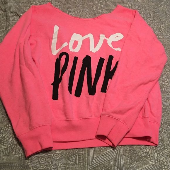 Victoria's Secret pink crew neck sweatshirt Victoria's Secret crew neck sweater PINK Victoria's Secret Sweaters Crew & Scoop Necks