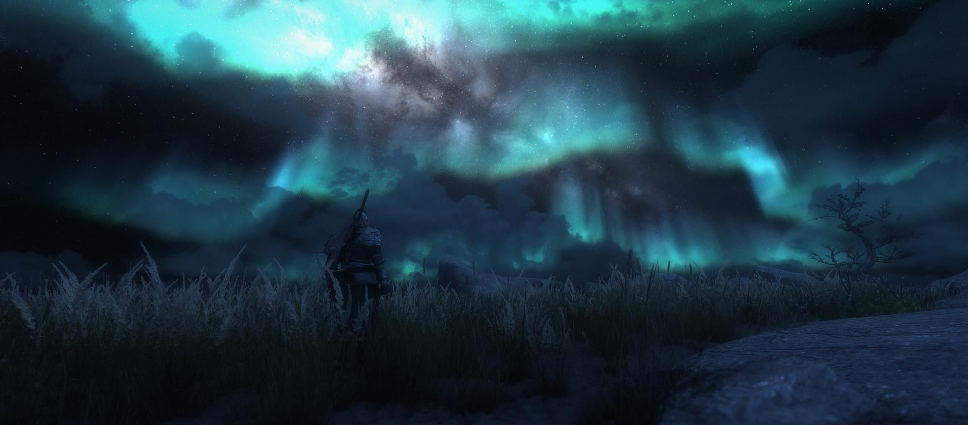 Anyone else just stand and watch the Aurora Borealis? #games #Skyrim #elderscrolls #BE3 #gaming #videogames #Concours #NGC