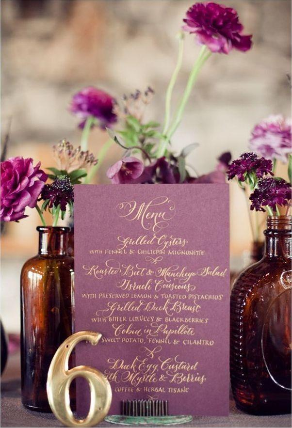 6 menus de mariage pas chers et originaux menu de mariage menus et pas cher. Black Bedroom Furniture Sets. Home Design Ideas
