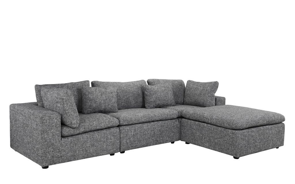 Awesome Delano Modern Low Profile Sectional Sofa With Chaise My Theyellowbook Wood Chair Design Ideas Theyellowbookinfo