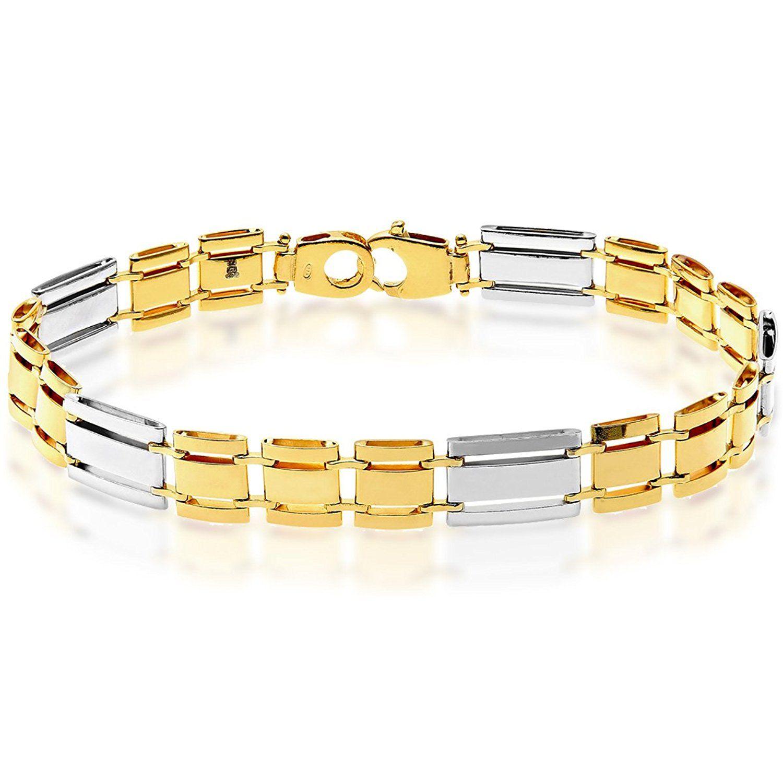 Citerna Sterling Silver Rectangle Bar Links Bracelet of Length 20.5 cm 285QAbF