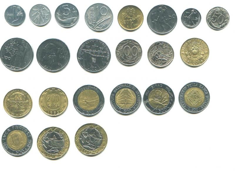 Italian Coins Lira