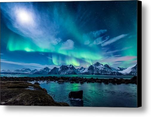 When The Moon Shines Canvas Print / Canvas Art By Tor-ivar Naess