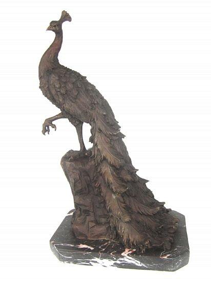 Peacock Merchandise | My Garden Gifts U003e Bird Statues, Sculptures And  Figurines U003e Peacock .