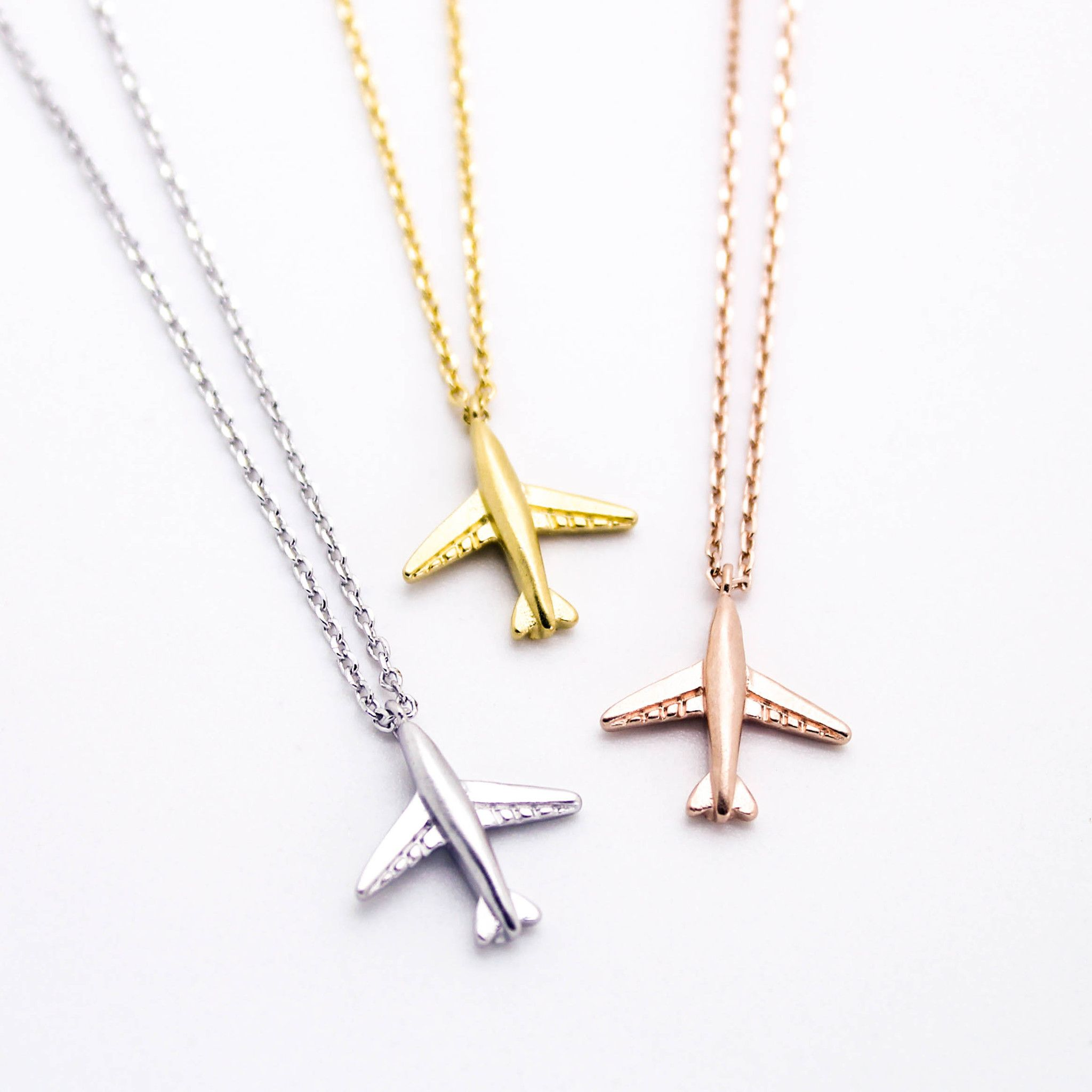 Airplane necklace Pendants Airplanes and Chain lengths