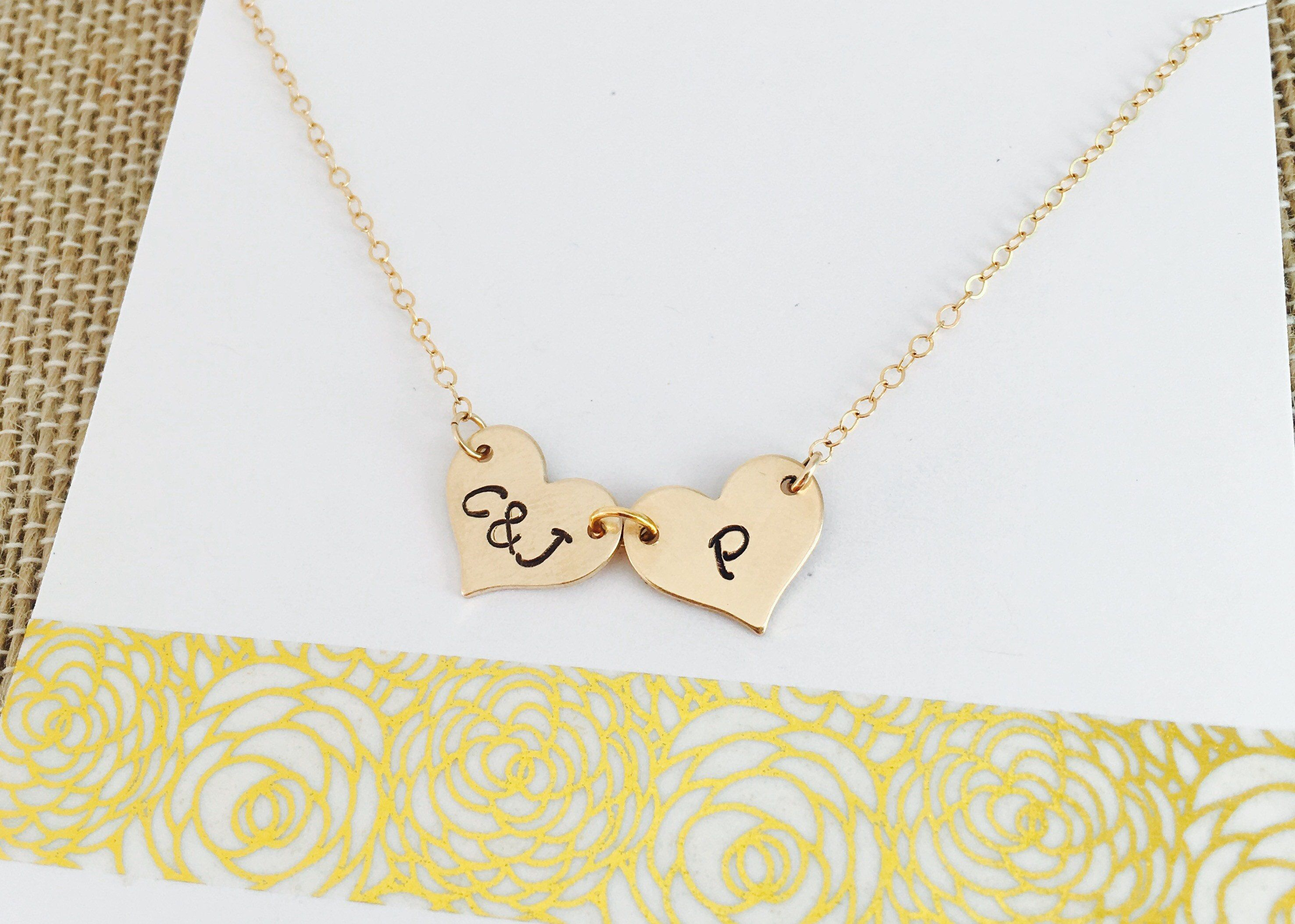 circle hear products gold tag pendant heart handstamped collections jewelry necklace custom personalized stamped minimalism initial original filled