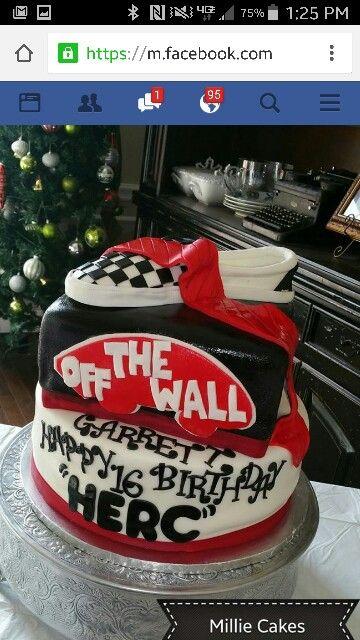 a968bac5c1 Vans Birthday Cake