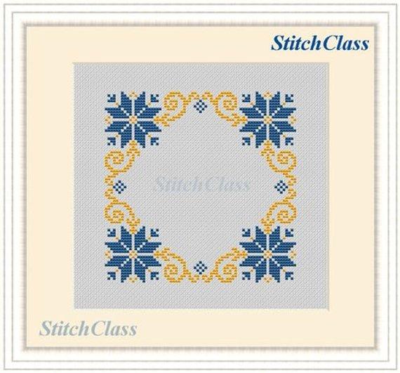 Counted Cross Stitch Pattern Pdf Decorative Christmas Square Etsy In 2021 Stitch Patterns Cross Stitch Patterns Cross Stitch Embroidery