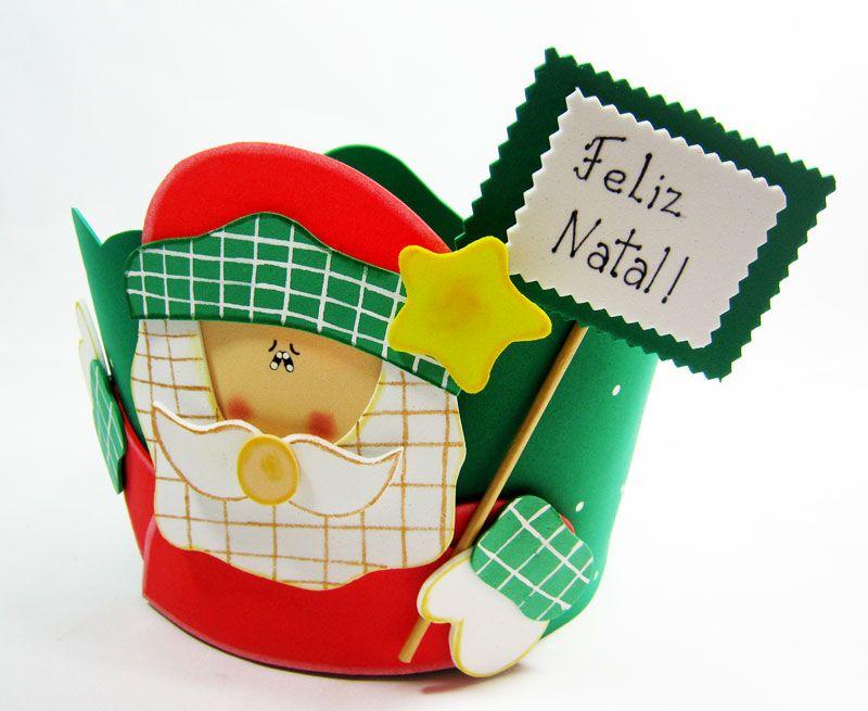 Como Fazer Porta Panetone Eva Presentar Lembrancinha Natal 5 Jpg