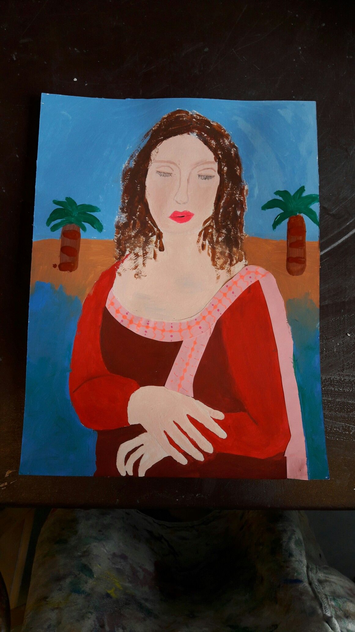 Mona Lisa. Acryl Malerei. Von Clara