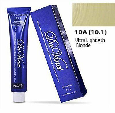 (Ad) Da Vinci Professional Permanent Hair Color- Ultra Light Ash Blonde 10A #lightashblonde