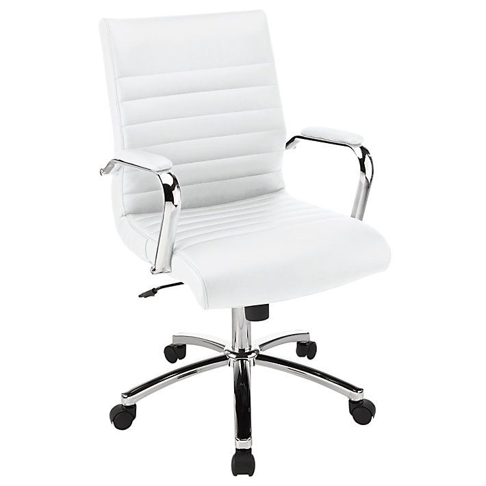Reale Winsley Mid Back Chair White By Office Depot Officemax