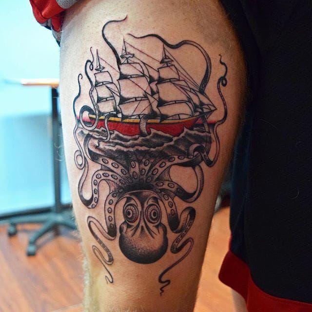 Tatouage De Sam Sea Plus Tattoos I Like Kraken Tattoo Tattoos