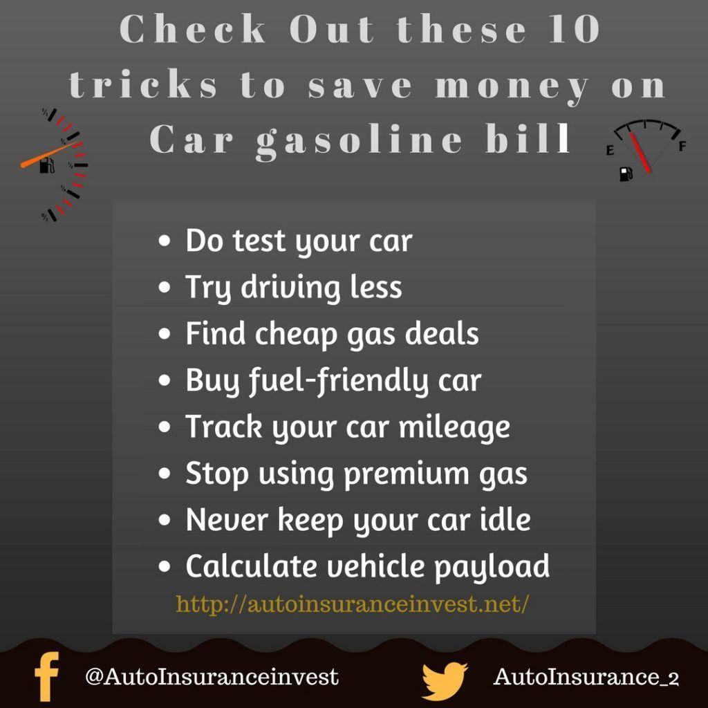 8 Simple Tricks To Save Money On Car Gasoline Bill Saving Money