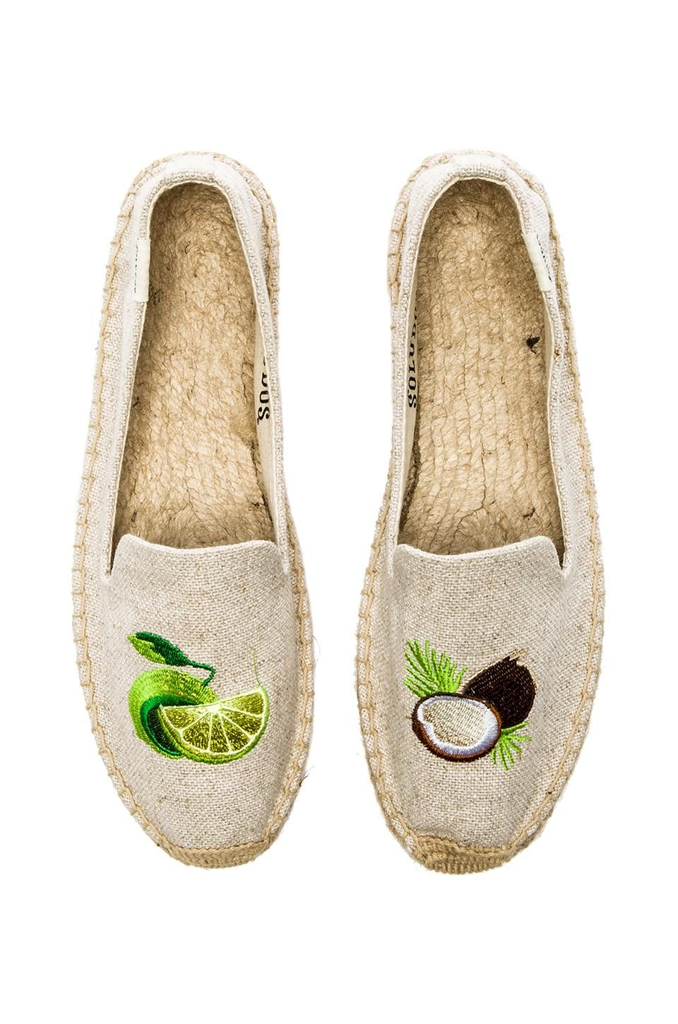 248b45cb7af Soludos Lime  amp  Coconut Embroidered Espadrille in Sand Lime Green Shoes