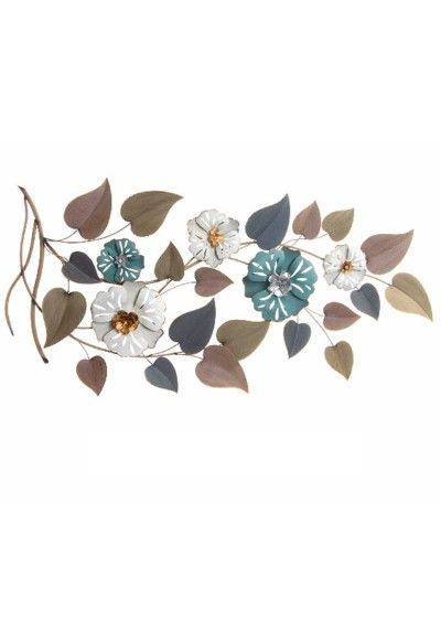 Decorativo pared metal flores | Decoración pared | Pinterest ...